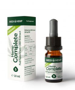 MedihempOrganic Hemp Complete 5% CBD olej, 500mg