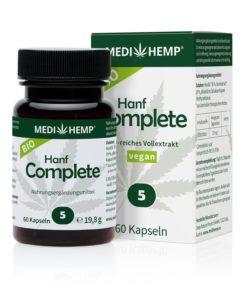 Organic Hemp Complete 5% CBD kapsle, 750mg, 60ks tobolek