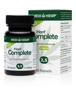 Organic Hemp Complete 2,5% CBD olej v kapslích, 375mg, 60ks tobolek