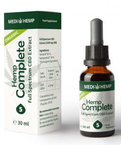 MedihempOrganic Hemp Complete 5% CBD olej, 1500mg