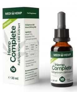 MedihempOrganic Hemp Complete 10% CBD olej, 3000mg