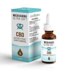 Medijuana5% CBD olej Ultrasoft, 450mg
